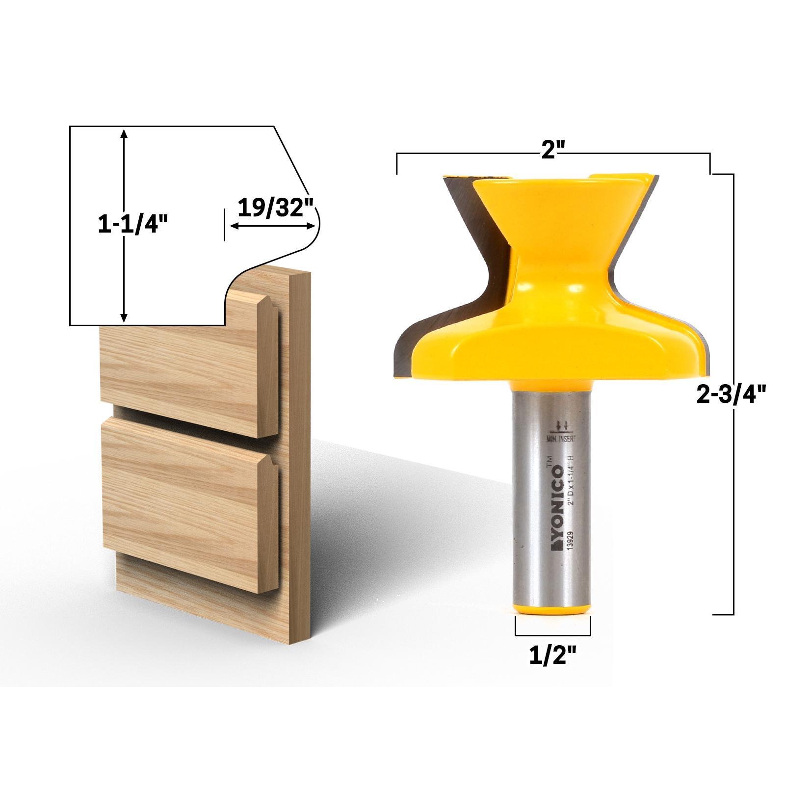 Door u0026 Window  Finger Grip  1-1/4  Cabinet Door Lip Router Bit - 1/2  Shank - Yonico 13929  sc 1 st  Precisionbits.com & Door u0026 Window :: Finger Grip :: 1-1/4