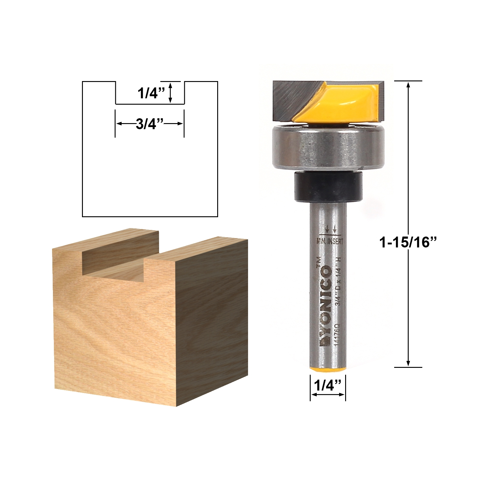Template Trim Hinge Mortising Router Bit 3/4\