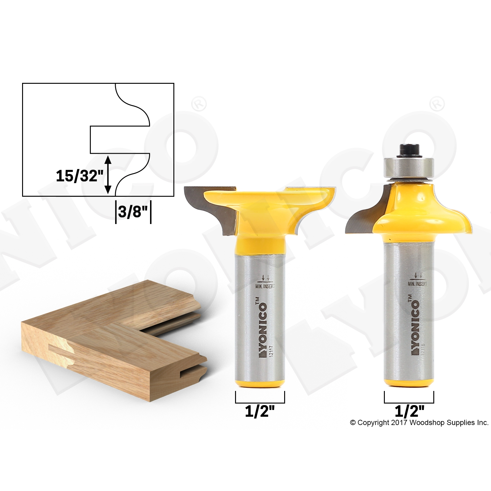 Router Bit Sets Door Window Sets Medium Ogee 2 Bit Matching