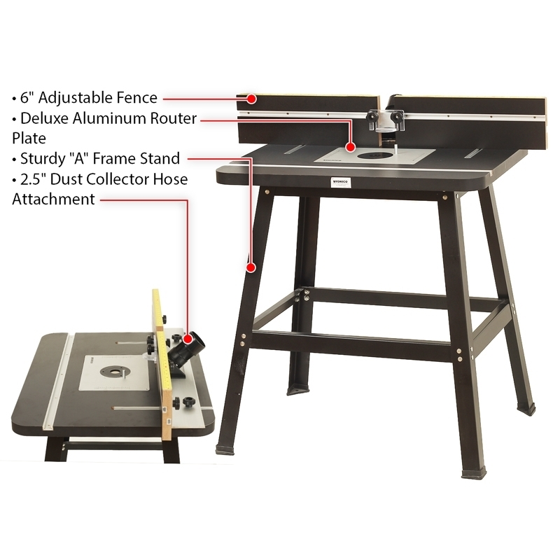 Router tables tables deluxe router table with aluminum router router tables tables deluxe router table with aluminum router plate yonico 21035 keyboard keysfo Choice Image