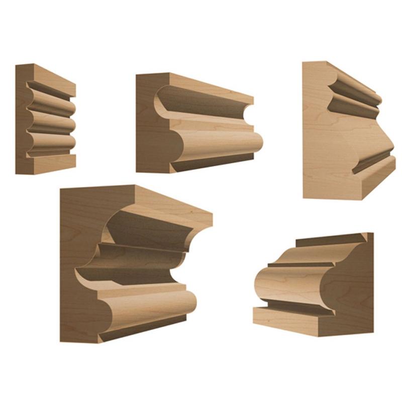 Chair Rail Router Bit Part - 23: Router Bit Sets :: Molding Sets :: 5 Bit Specialty Molding Router Bit Set -  Yonico 16540