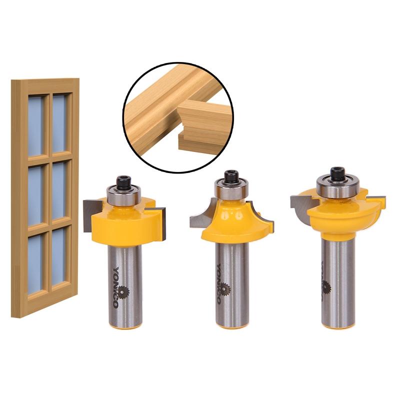Door \u0026 Window :: Glass Door \u0026 Window :: Glass Door Router Bits- 3 pc. Round-Over Bead Set w/ 1/2\