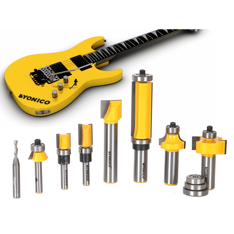 Luthier S 8 Bit Electric Guitar Router Bit Set Yonico