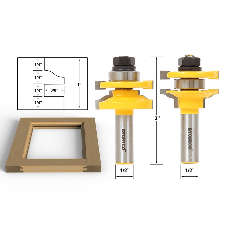Router Bit Sets Door Window Sets Ogee 2 Bit Rail And Stile