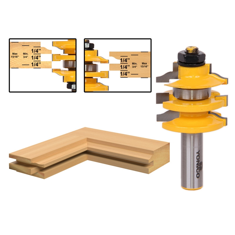 Ogee Stacked Rail And Stile Router Bit 1 2 Quot Shank
