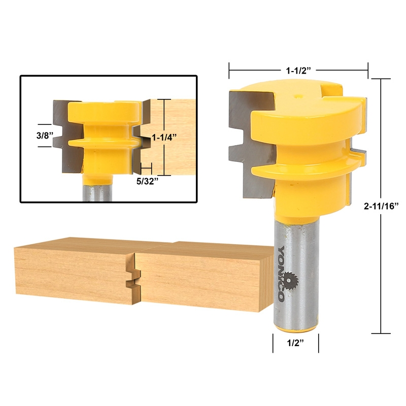 Joinery Joinery Sets 3pc Jointing Router Bit Set