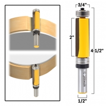 Yonico 14874 2-3//4-Inch Diameter Bottom Cleaning Router Bit 1//2-Inch Shank